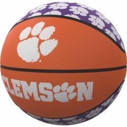 Clemson Repeating Logo Mini-Size Rubber Basketball