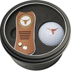 Tin Gift Set with Switchfix Divot Tool and Golf Ball Texas Longhorns found on Bargain Bro Philippines from balfour for $31.25