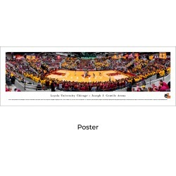 Loyola Ramblers Basketball - Unframed Panoramic Print