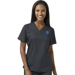 University of Kentucky V-Neck Scrub Top Standard Sizes Gray found on Bargain Bro from balfour for USD $28.49