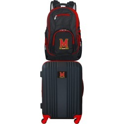 NCAA Maryland Terrapins 2 Piece Set Luggage and Backpack by Mojo Licensing