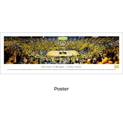 Michigan Wolverines Basketball - Unframed Panoramic Poster