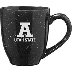 Utah State University - 16-ounce Ceramic Coffee Mug - Black