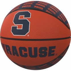 Syracuse Repeating Logo Mini-Size Rubber Basketball
