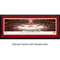 Minnesota Gophers Women's Basketball - Double Mat - Deluxed Framed Panoramic Print