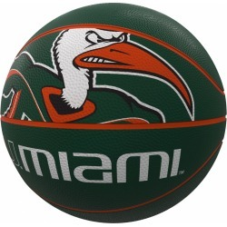 Miami Mascot Official-Size Rubber Basketball