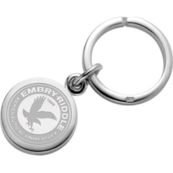 Embry-Riddle Sterling Silver Insignia Key Ring by M.LaHart & Co.