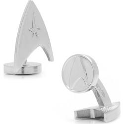 Star Trek Silver Delta Shield Cufflinks