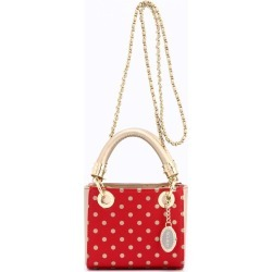 Ladies Red & Gold Small Satchel Top Handle Purse - Jacqui by SCORE! The Official Game Day Bag