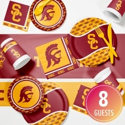 University of Southern California Game Day Party Supplies Kit