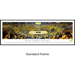 Michigan Wolverines Basketball - Standard Framed Panoramic Print