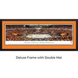 Tennessee Volunteers Basketball - Double Mat- Deluxe Framed Panoramic Print