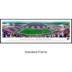 Kansas State Wildcats Football - Stadium Stripe - Standard Framed Panoramic Poster found on Bargain Bro India from balfour for $99.99