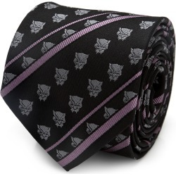Black Panther Stripe Black Tie