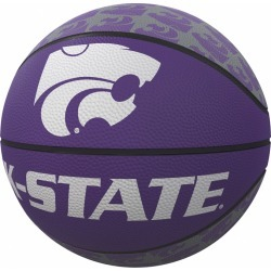 KS State Repeating Logo Mini-Size Rubber Basketball