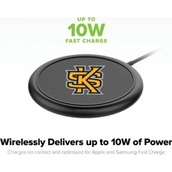 Mophie Black Wireless Devices with Kennesaw State Owls logo