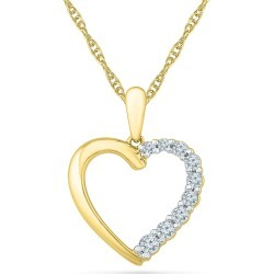 10K Yellow Gold 1/5 CT.TW. Diamond Heart Pendant found on Bargain Bro India from balfour for $399.99
