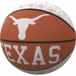 Texas Repeating Logo Mini-Size Rubber Basketball