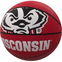 Wisconsin Mascot Official-Size Rubber Basketball