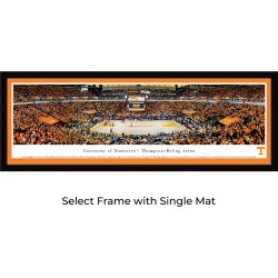 Tennessee Volunteers Basketball - Single Mat- Select Framed Panoramic Print