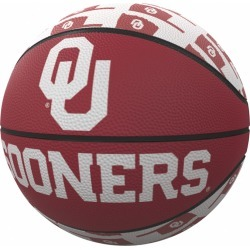 Oklahoma Repeating Logo Mini-Size Rubber Basketball