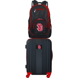 NCAA South Dakota Coyotes 2 Piece Set Luggage and Backpack by Mojo Licensing