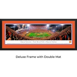 Clemson Tigers Football (50 Yd) - Double Mat - Deluxed Framed Panoramic Print