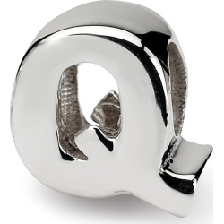 Sterling Silver Reflection Beads Letter Q Bead