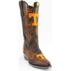 """Women's 13"""" Tennessee Volunteers Tailgate Brass Cowboy Boots by Gameday Boots"""