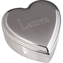 Engraved Initial Heart Jewelry Box