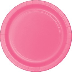 Candy Pink Paper Plates - 24 Count found on Bargain Bro from balfour for USD $9.77