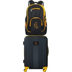 NCAA Wyoming Cowboys 2 Piece Set Luggage and Backpack by Mojo Licensing