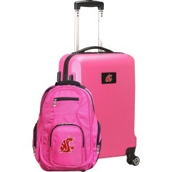 Washington State Cougars Deluxe 2-Piece Backpack and Carry on Set