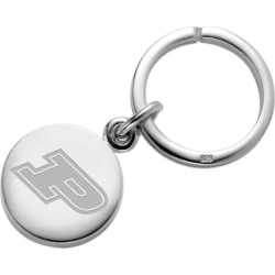 Purdue University Sterling Silver Insignia Key Ring by M.LaHart & Co.