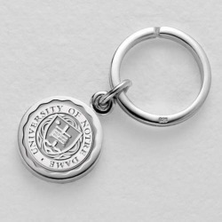Notre Dame Sterling Silver Insignia Key Ring by M.LaHart & Co.