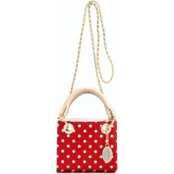 Ladies Red- White- Gold Small Satchel Top Handle Purse - Jacqui by SCORE! The Official Game Day Bag