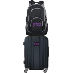 NCAA Texas Christian University Horned Frogs 2 Piece Set Luggage and Backpack by Mojo Licensing