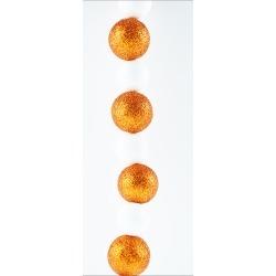 Orange and White Glittered Garland Oxbay By Seasons Designs