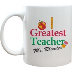 Personalized  World's Greatest Teacher Coffee Mug 11 oz