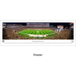 Pittsburgh Steelers Football (Night) - Unframed Panoramic Poster
