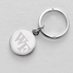 Wake Forest Sterling Silver Insignia Key Ring by M.LaHart & Co.