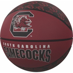 South Carolina Repeating Logo Mini-Size Rubber Basketball