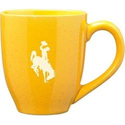 University of Wyoming - 16-ounce Ceramic Coffee Mug - Gold