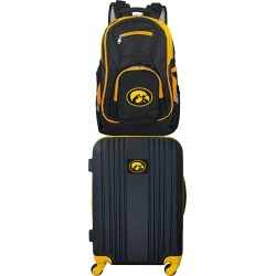 NCAA Iowa Hawkeyes 2 Piece Set Luggage and Backpack by Mojo Licensing