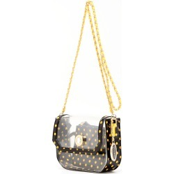 Clear Stadium Shoulder Bag Black & Yellow Gold Chrissy Small by SCORE! The Official Game Day Bag