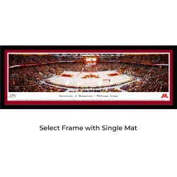 Minnesota Gophers Women's Basketball - Single Mat - Select Framed Panoramic Print