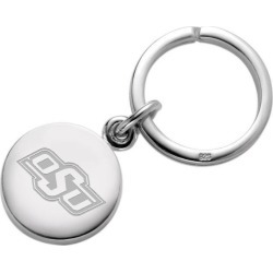 Oklahoma State University Sterling Silver Insignia Key Ring by M.LaHart & Co.