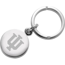 Indiana University Sterling Silver Insignia Key Ring by M.LaHart & Co.
