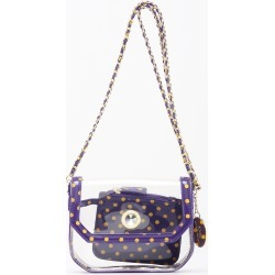 Clear Stadium Shoulder Bag Purple & Yellow Gold Chrissy Small by SCORE! The Official Game Day Bag