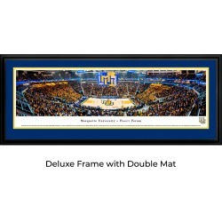 Marquette Basketball - 1st Game at Fiserv Forum - Double Mat - Deluxed Framed Panoramic Print